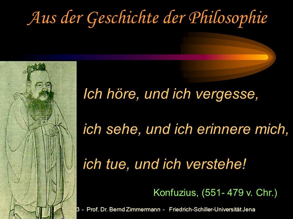 Aus der Geschichte der Philosophie