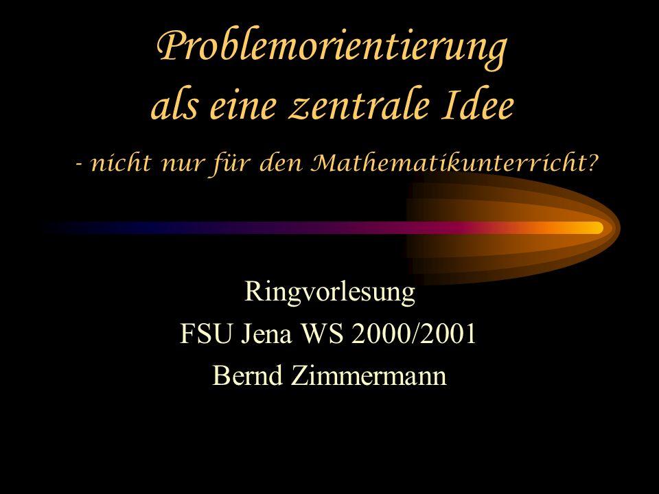 Ringvorlesung FSU Jena WS 2000/2001 Bernd Zimmermann