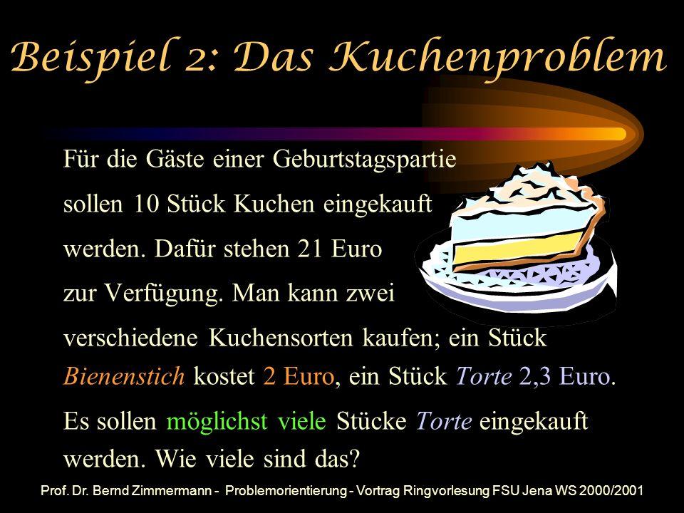 Beispiel 2: Das Kuchenproblem
