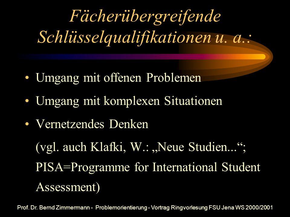 Fächerübergreifende Schlüsselqualifikationen u. a.: