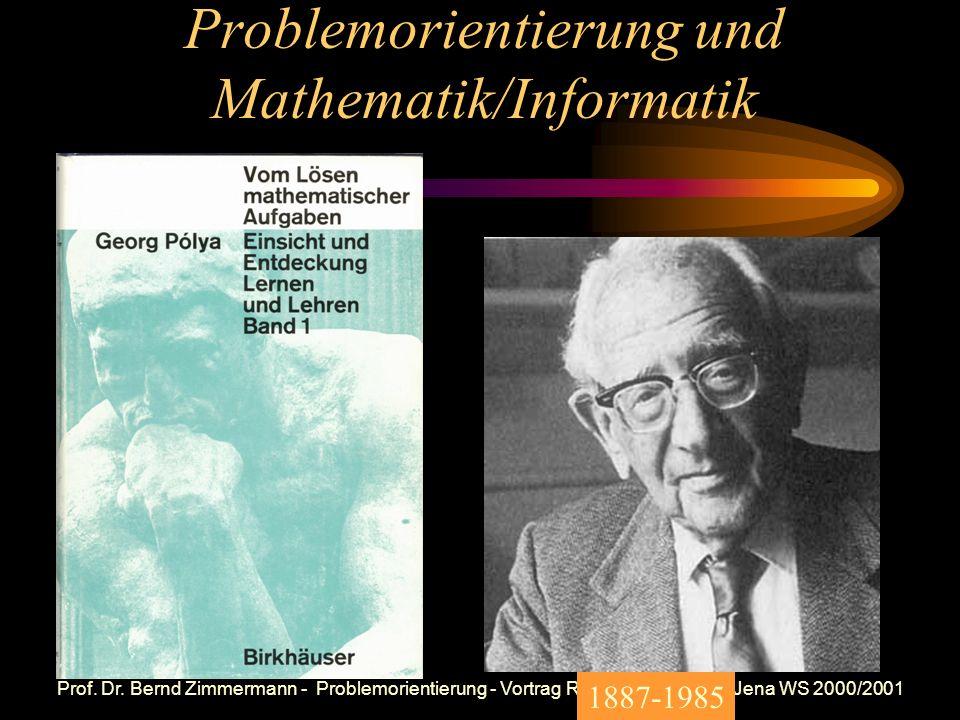 Problemorientierung und Mathematik/Informatik