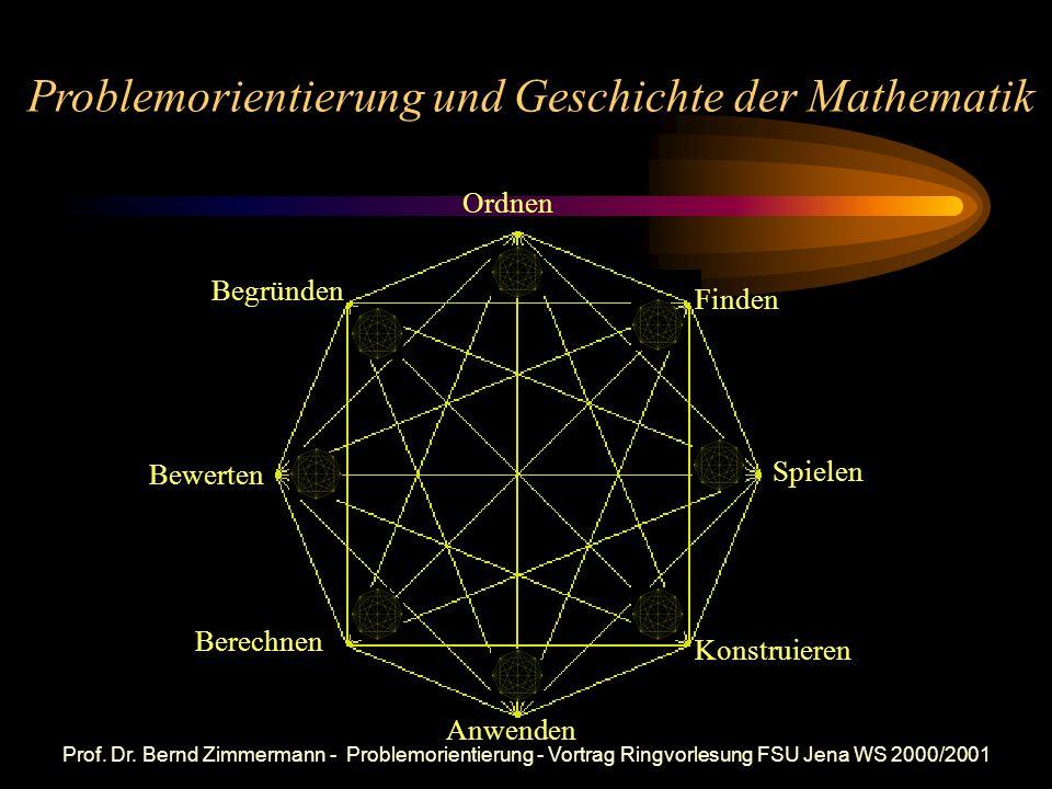 Problemorientierung und Geschichte der Mathematik