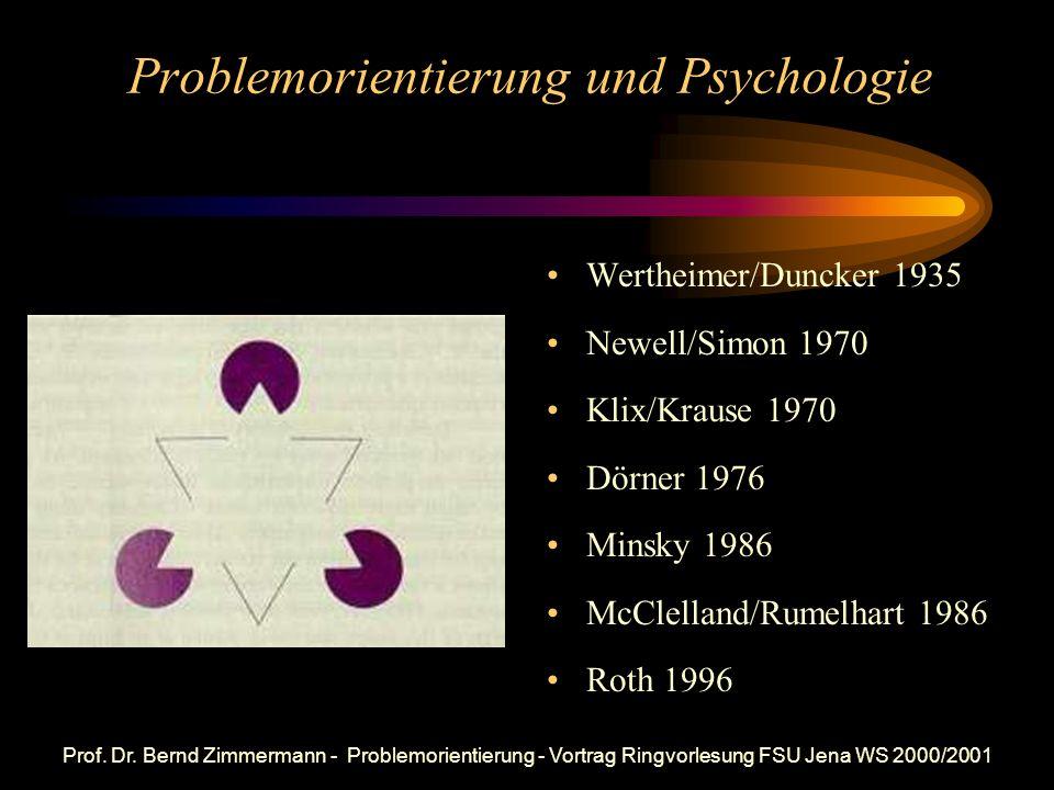 Problemorientierung und Psychologie