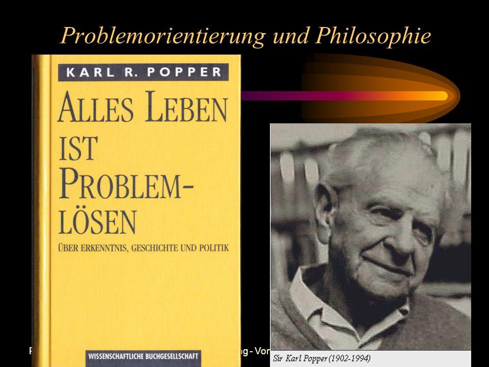 Problemorientierung und Philosophie