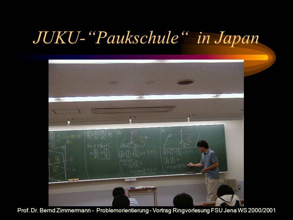 JUKU- Paukschule in Japan