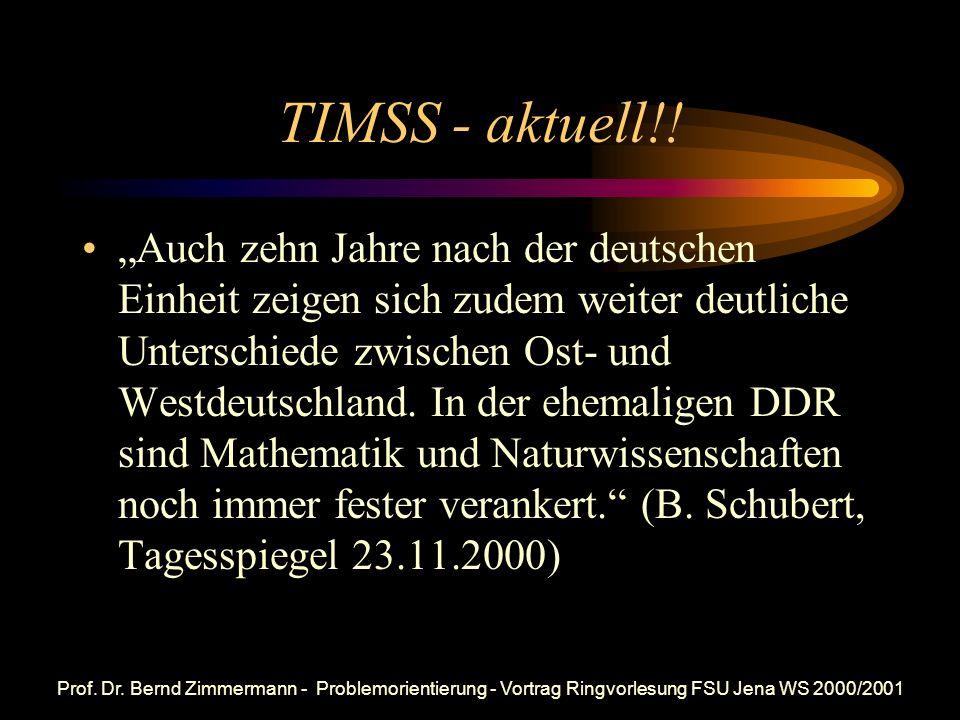 TIMSS - aktuell!!