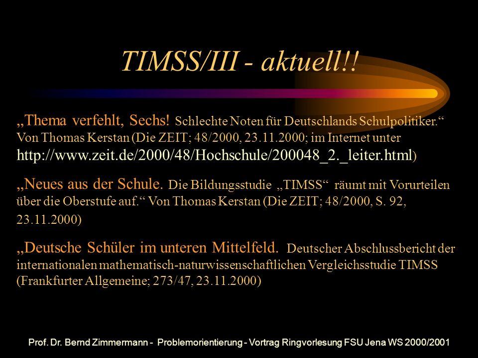 TIMSS/III - aktuell!!