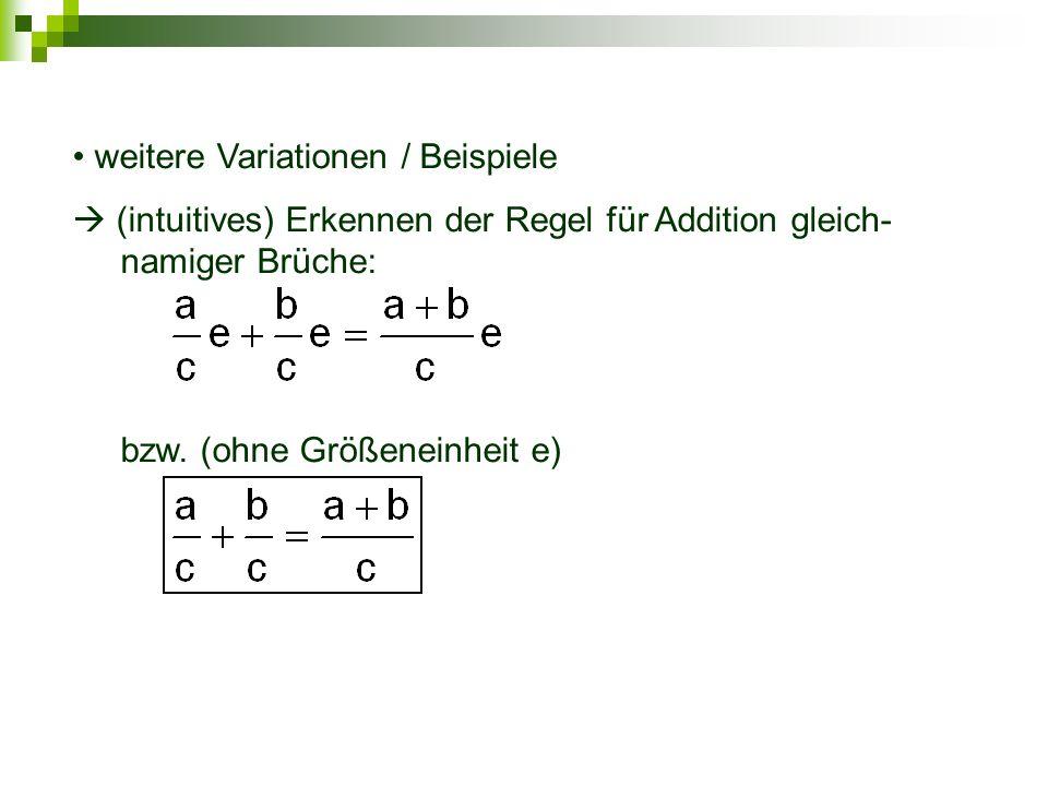 weitere Variationen / Beispiele