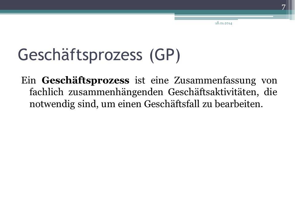 Geschäftsprozess (GP)