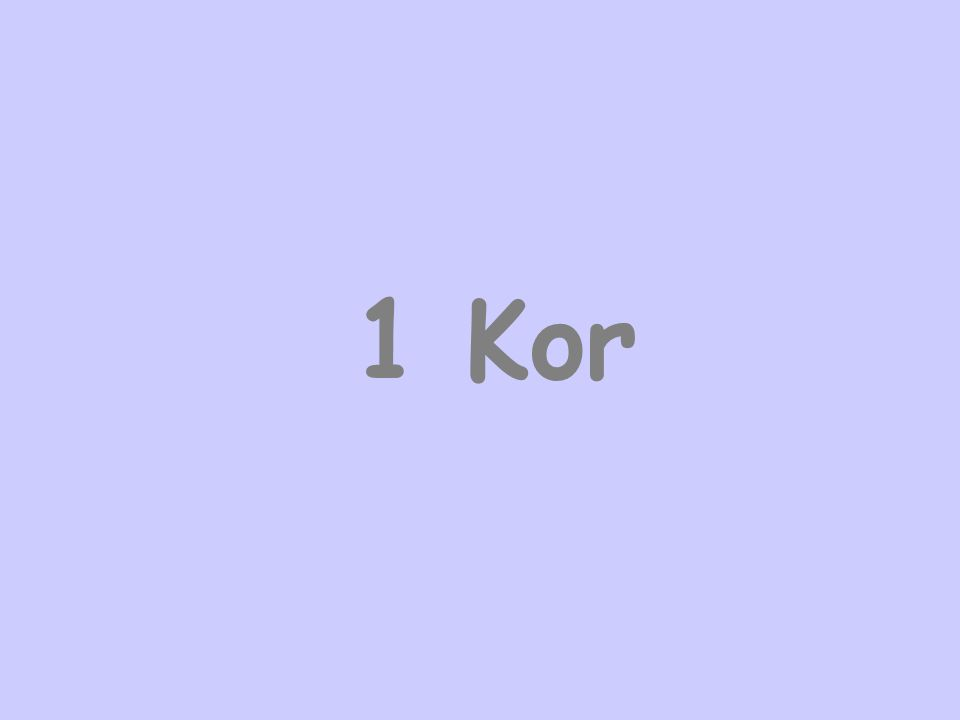 1 Kor