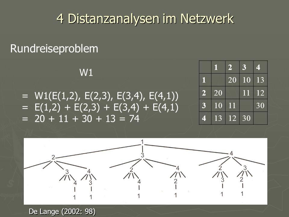 4 Distanzanalysen im Netzwerk