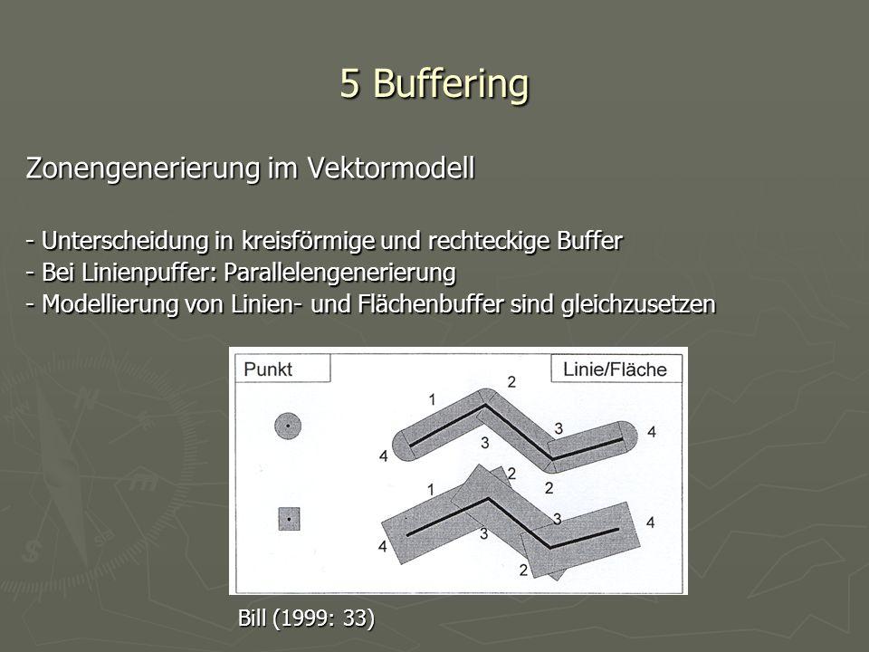 5 Buffering Zonengenerierung im Vektormodell