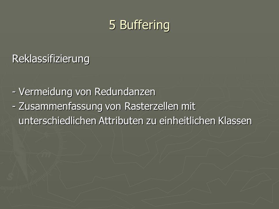 5 Buffering Reklassifizierung - Vermeidung von Redundanzen