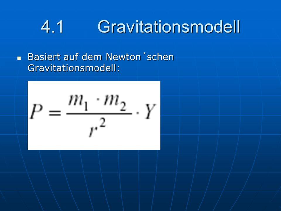 4.1 Gravitationsmodell Basiert auf dem Newton´schen Gravitationsmodell: