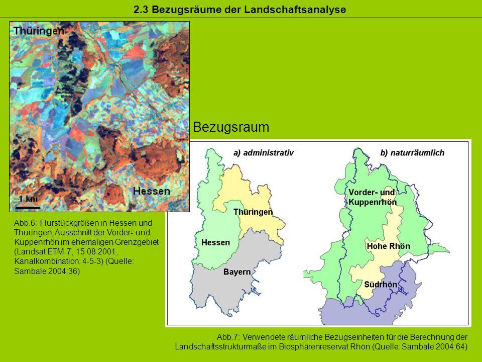 Bezugsraum 2.3 Bezugsräume der Landschaftsanalyse