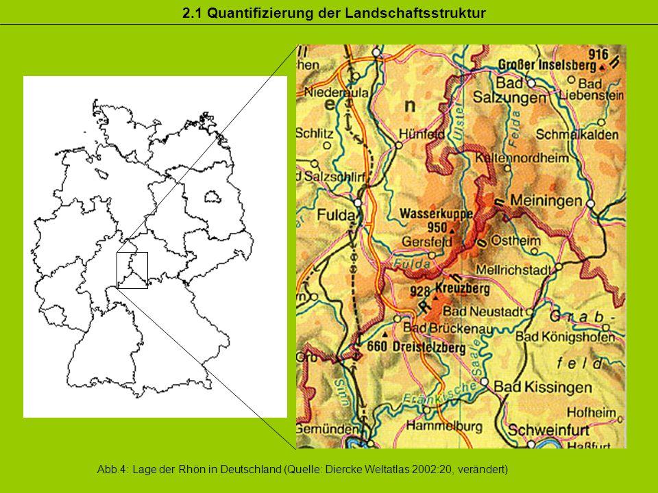 2.1 Quantifizierung der Landschaftsstruktur
