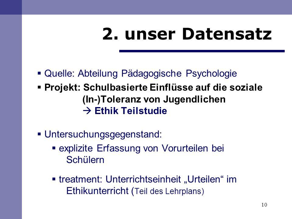 2. unser Datensatz Quelle: Abteilung Pädagogische Psychologie