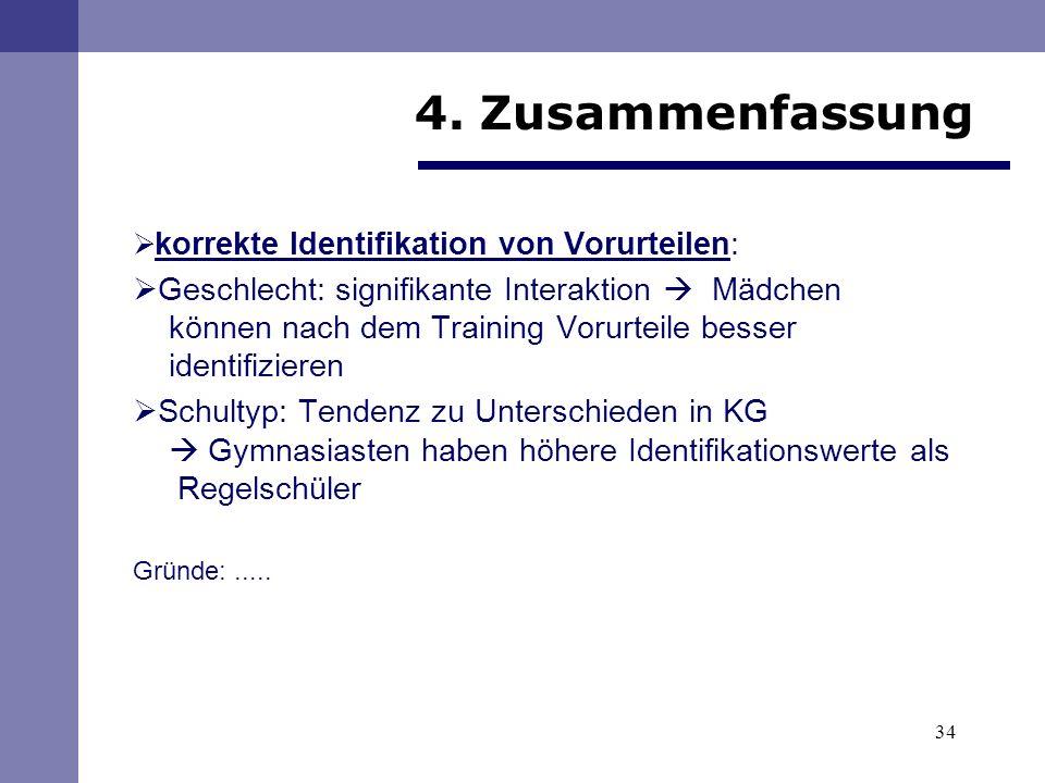 4. Zusammenfassung korrekte Identifikation von Vorurteilen: