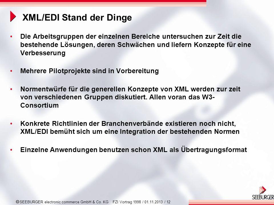 XML/EDI Stand der Dinge