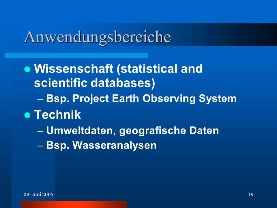 Anwendungsbereiche Wissenschaft (statistical and scientific databases)