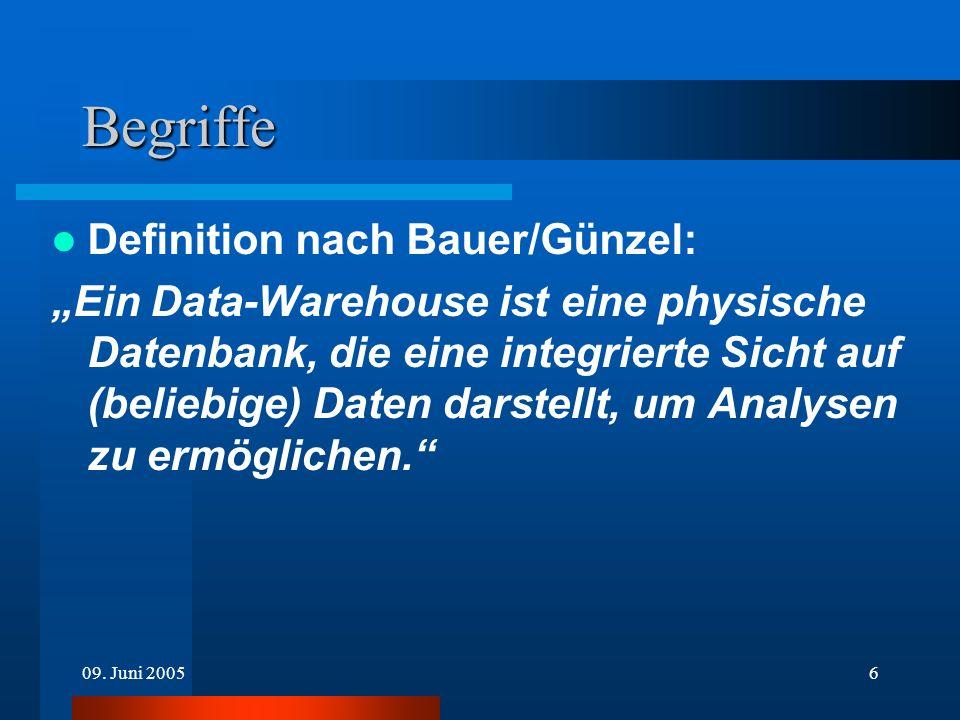 Begriffe Definition nach Bauer/Günzel: