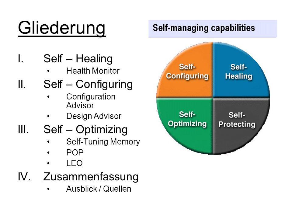 Gliederung Self – Healing II. Self – Configuring