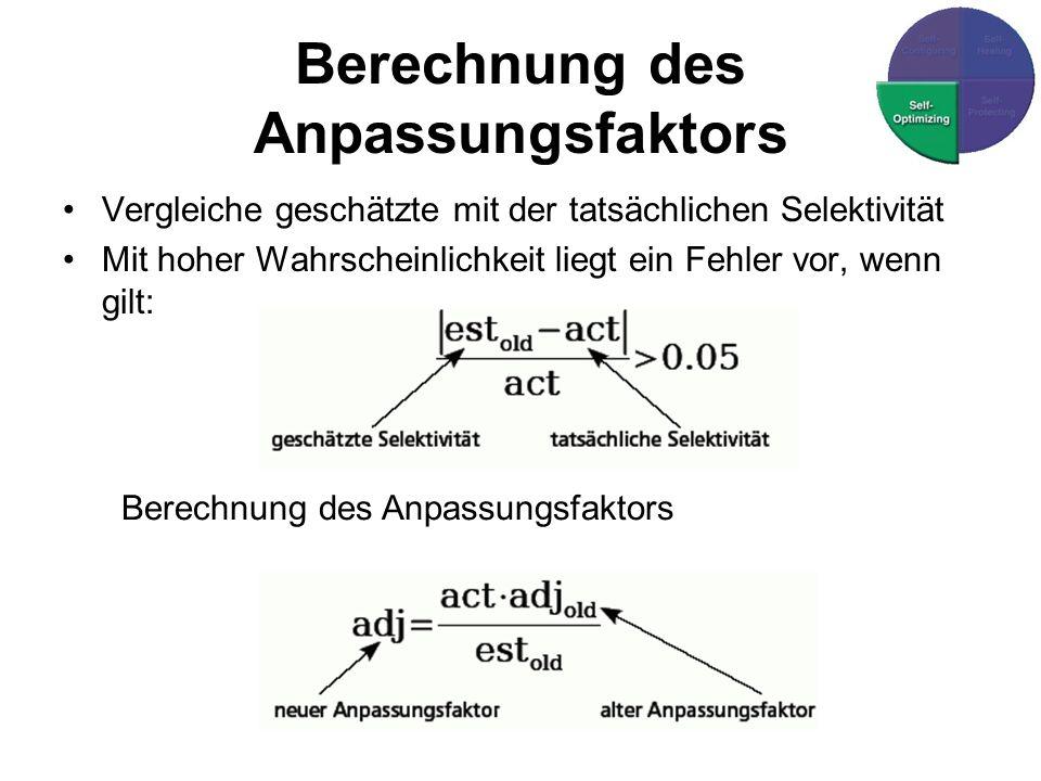 Berechnung des Anpassungsfaktors