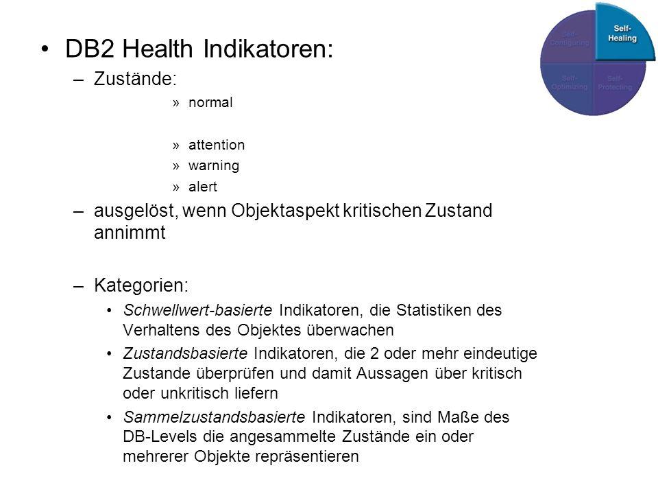 DB2 Health Indikatoren: