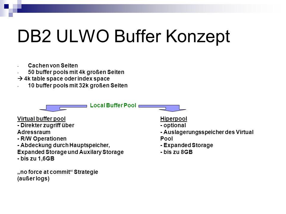 DB2 ULWO Buffer Konzept Cachen von Seiten