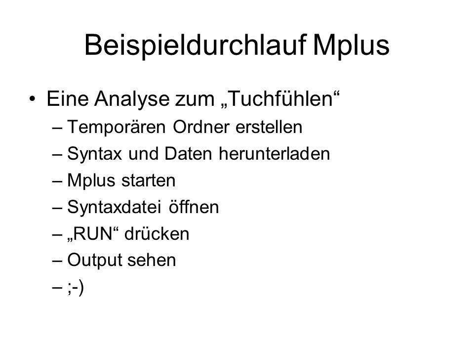 Beispieldurchlauf Mplus