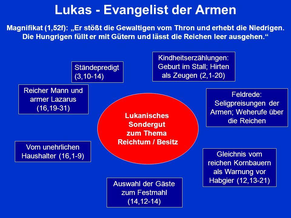 Lukas - Evangelist der Armen