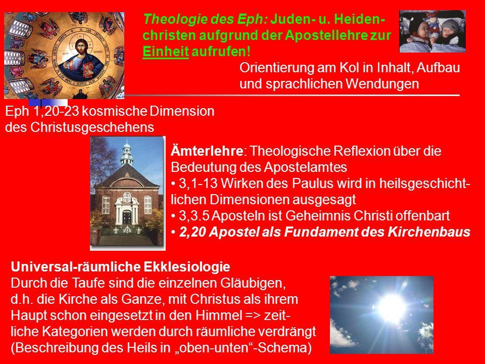 Theologie des Eph: Juden- u. Heiden-