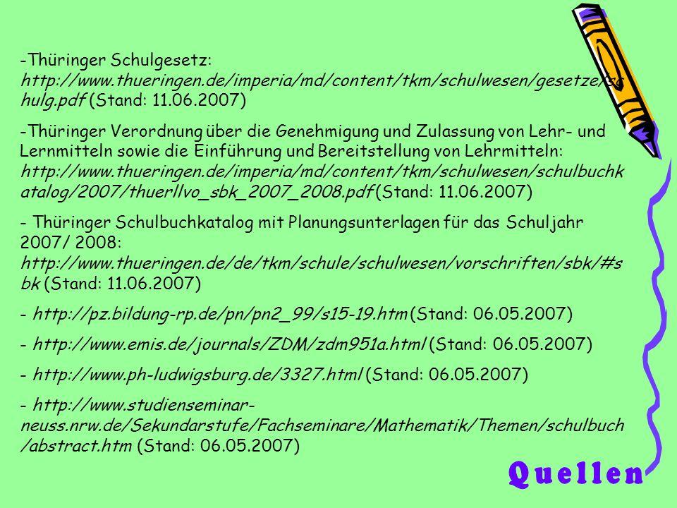 Thüringer Schulgesetz: http://www. thueringen