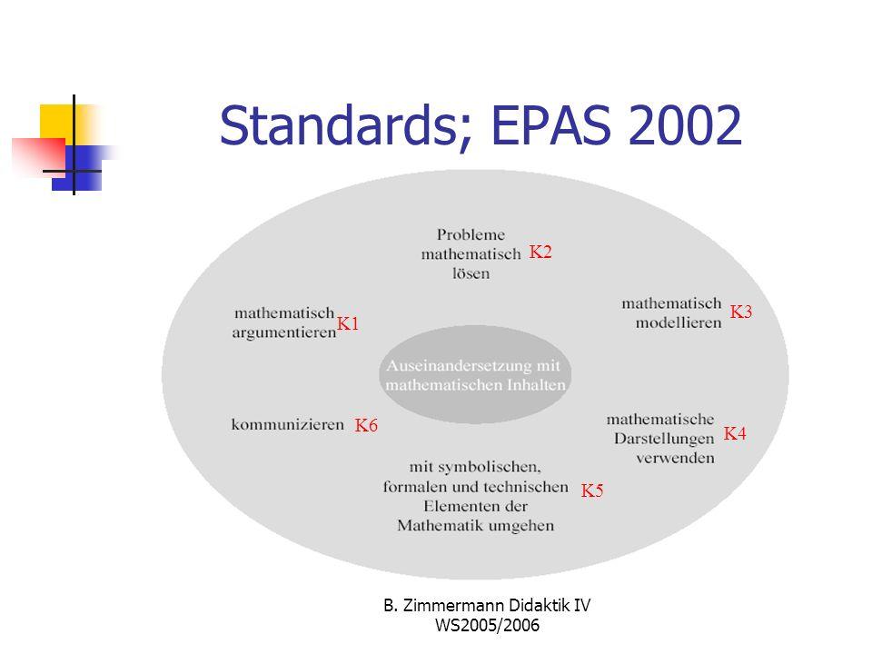 B. Zimmermann Didaktik IV WS2005/2006