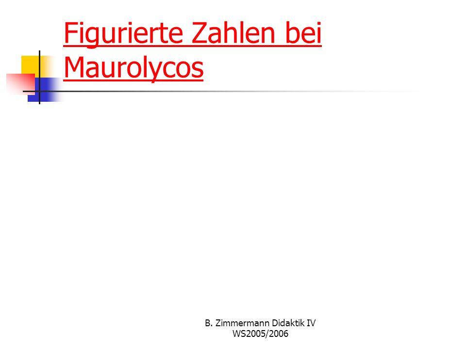 Figurierte Zahlen bei Maurolycos
