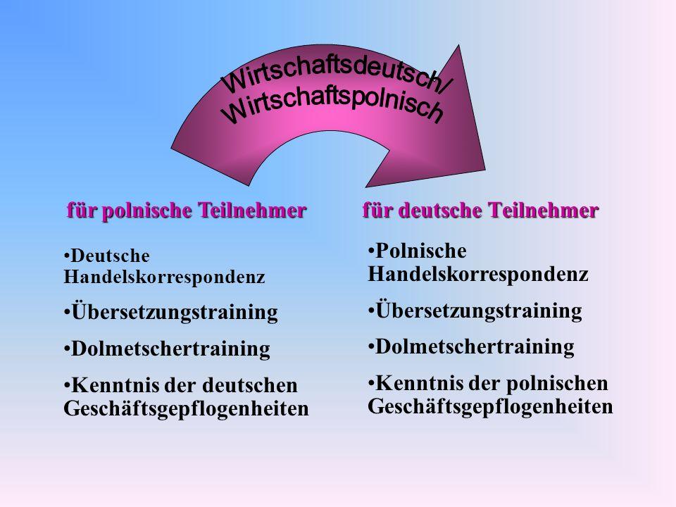 für polnische Teilnehmer