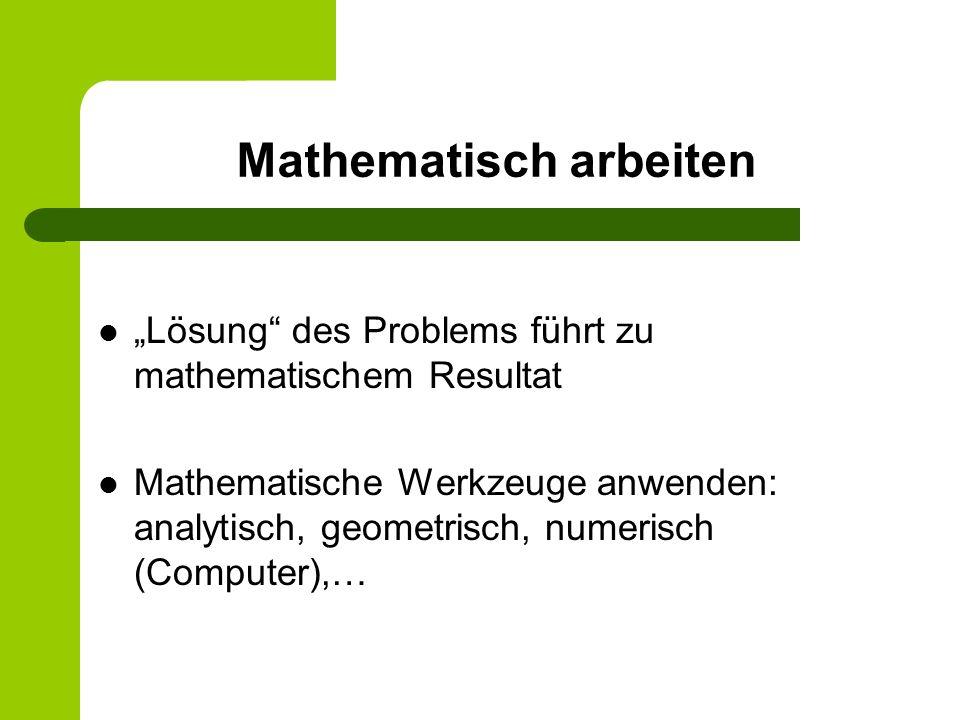 Mathematisch arbeiten