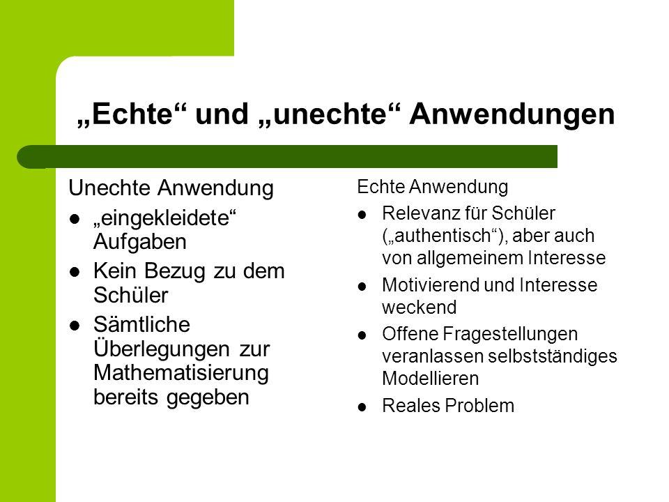 """""""Echte und """"unechte Anwendungen"""