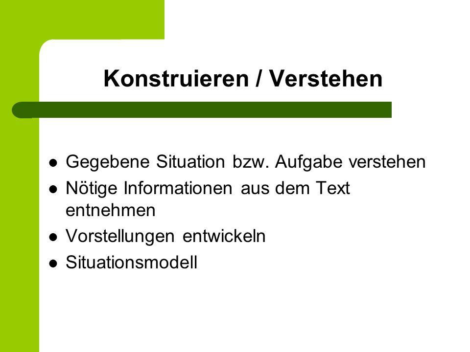 Konstruieren / Verstehen