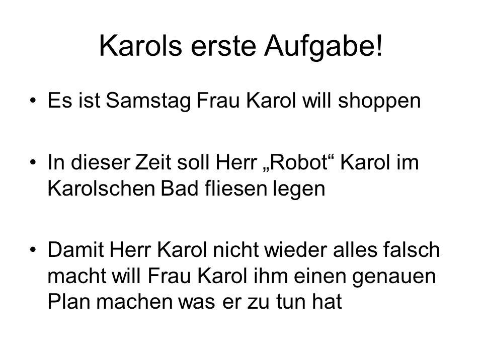 Karols erste Aufgabe! Es ist Samstag Frau Karol will shoppen