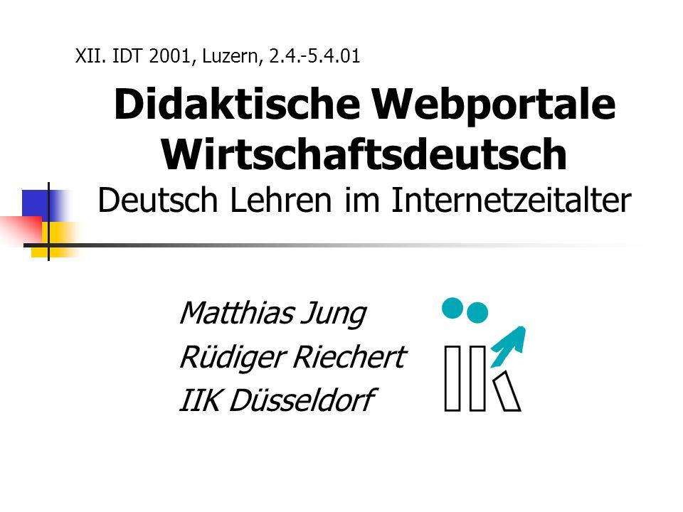 Matthias Jung Rüdiger Riechert IIK Düsseldorf