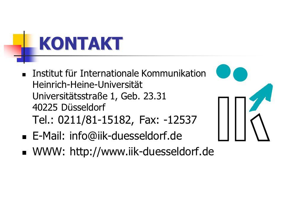 KONTAKT E-Mail: info@iik-duesseldorf.de