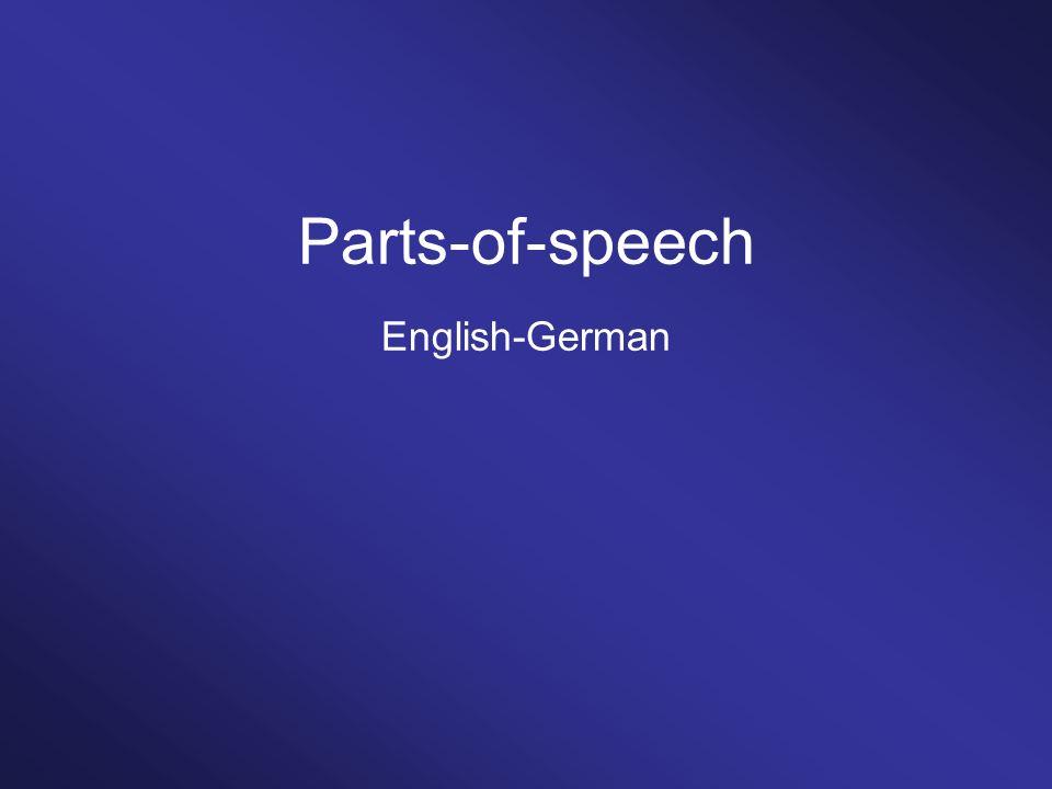 Parts-of-speech English-German