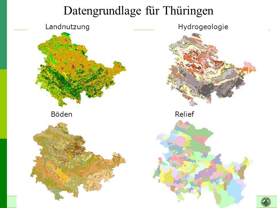 Datengrundlage für Thüringen