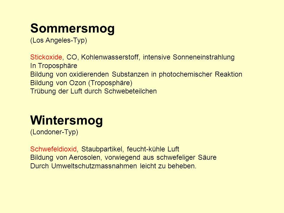 Sommersmog Wintersmog (Los Angeles-Typ)