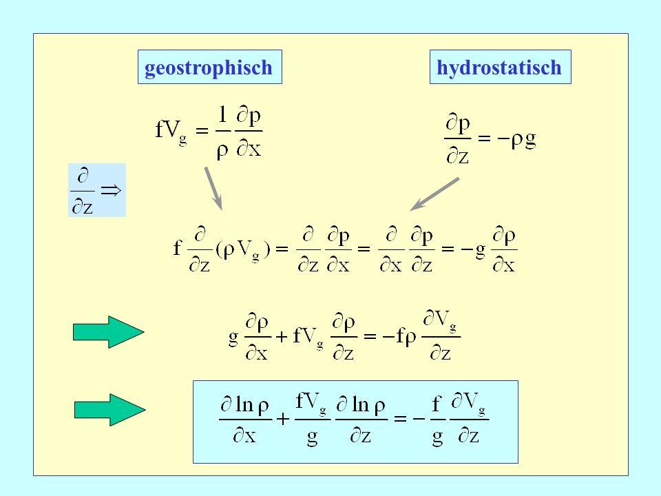 geostrophisch hydrostatisch