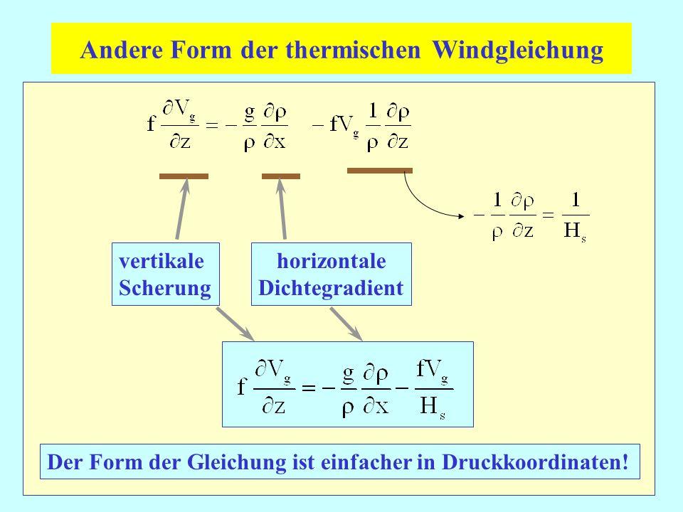 Andere Form der thermischen Windgleichung