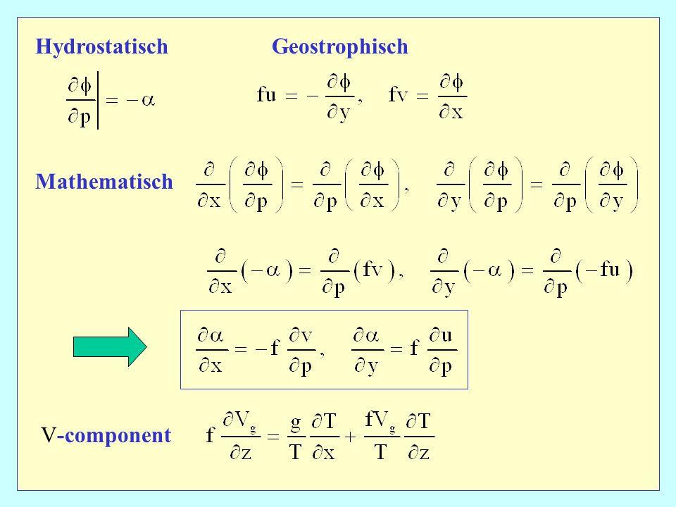 Hydrostatisch Geostrophisch Mathematisch V-component