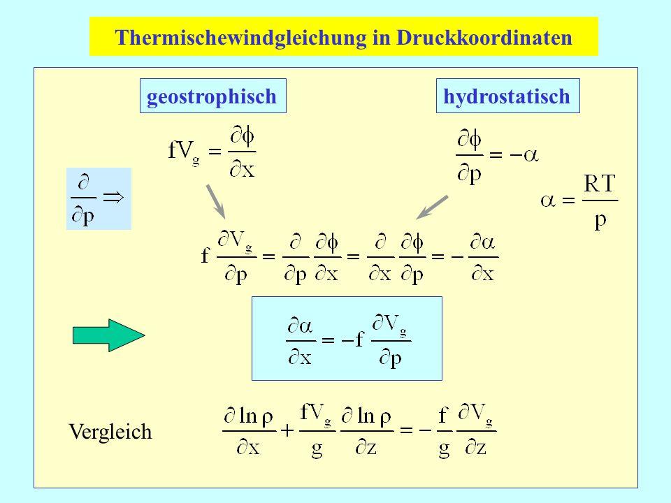 Thermischewindgleichung in Druckkoordinaten