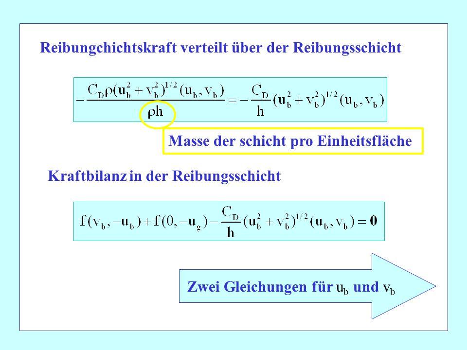 Zwei Gleichungen für ub und vb
